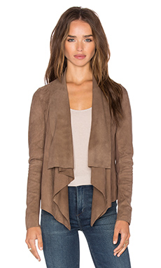 Chester Drape Front Jacket in Taupe