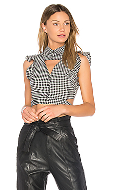 Denise Gingham Blouse en Birch