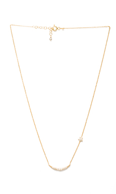 Natalie B Ottoman Moon and Star Necklace in Gold