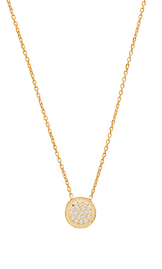 Natalie B Ottoman Small Disc Necklace – 金色