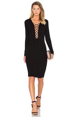 x REVOLVE Survive Midi Dress in Black