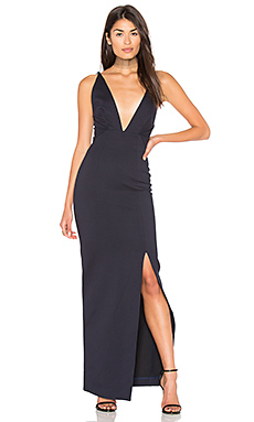 Ponti Ava Wrap Gown in Navy