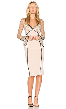French Lace Bell Sleeve Dress in Nude