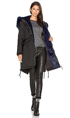 BRERA 银狐及亚洲兔皮内衬派克大衣