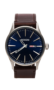 The Sentry Leather en Blue/Brown