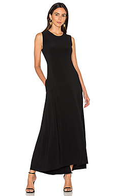 Sleeveless Long Swing Dress en Noir