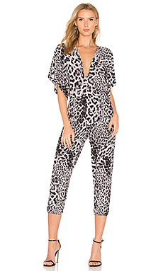 Rectangle Jog Jumpsuit en Grey Leopard