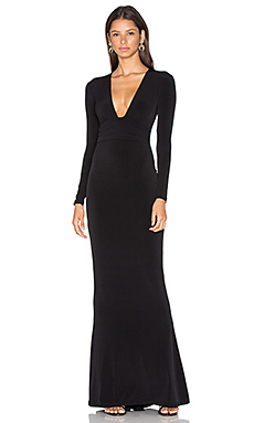 Cherish Long Sleeve Maxi Dress en Noir