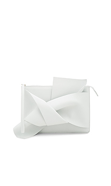 Knotted Clutch en Blanc