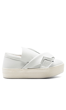 Platform Sneaker in White