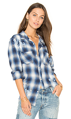 Kimberly Top en Painted Blue Plaid