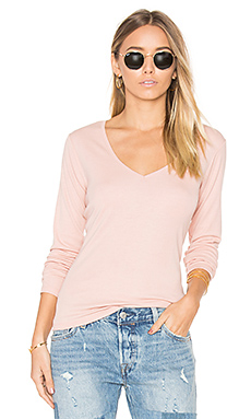 Courtney Long Sleeve V en Rose