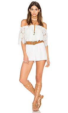 COMBISHORT OFF SHOULDER LACE