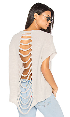 Yashu Slash Back Sweater en Sable