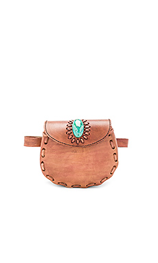 Darlene Fannypack With Turquoise en Marron
