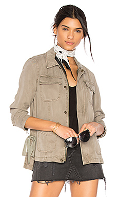 Cargo Jacket With Side Ties – Sea Grass