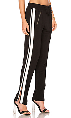 Zippered Pant With Side Stripes en Noir