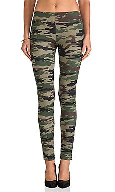 Camo Print Legging en Imprimé Camouflage Kaki