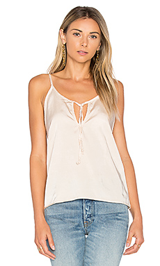 Maggie Tied Tank en Mineral Wash Flax