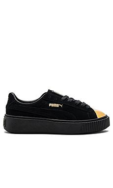 麂皮防水台运动鞋