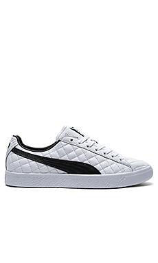 Clyde Dressed Part Deux FM in Puma White & Puma Black en Blanc Puma Noir Puma