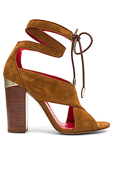 Ankle Wrap Heel en Daim Marron