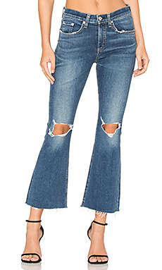 JEAN FLARE CROPPED DISTRESSED