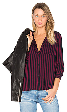 Aly Button Up en Midnight & Chianti