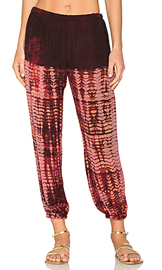 Silk Sweatpant en Oxblood Tie Dye