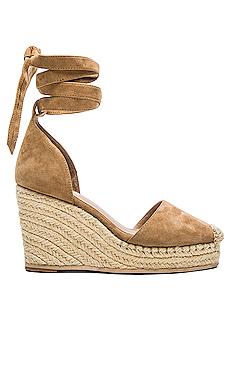 DAHLIA 帆布坡跟鞋