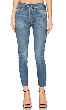 RIGID 高裆七分/九分牛仔裤