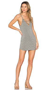 George Criss Cross Mini Dress in Lodestone