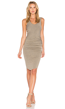 Gia Ruched Midi Dress en Seawash