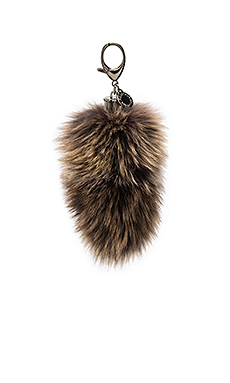 Fox Tail Bag Charm en Imprimé marron