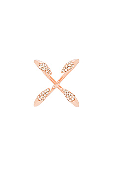 Pave Claw Ring en Or Rose & Cristal