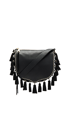Large Multi Tassel Saddle Bag – 黑色