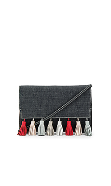 Sofia Clutch in Dark Denim Multi