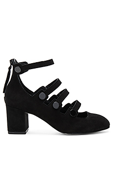 Blair Heel in Black Kid Suede