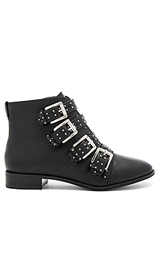 Maddox Bootie in Black Shiny Calf & Silver Studs