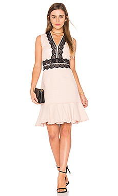 Sleeveless Tweed Lace Dress in Ballerina Pink