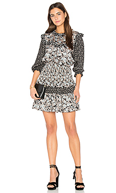 Long Sleeve Bijou Patch Dress en Glacier Combo