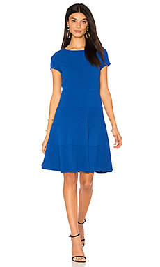 Short Sleeve Diamond Texture Dress en Royal Blue