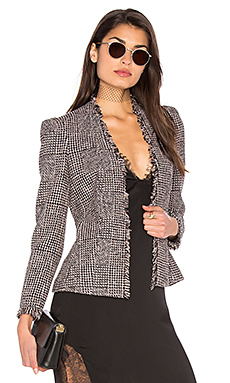 Houndstooth Tweed Jacket – Teaberry Combo