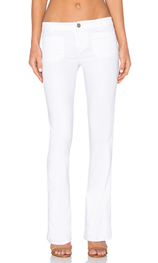 Marianne Flare Pant in White