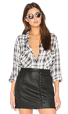 Boyfriend Plaid Button Up en Maxwell Plaid