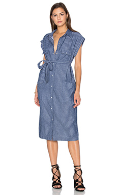 Tanya Dress en El Paso Denim Stripe