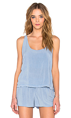 Luna Back Tank in Chambray