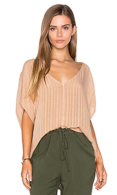 Lynn Top en Indian Tan Fiji Plaid