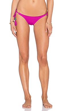 Long Tie Bikini Bottom in Solid Grape