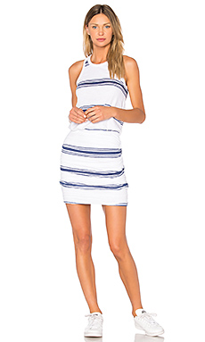 Navy Stripes Tank Dress – 白色